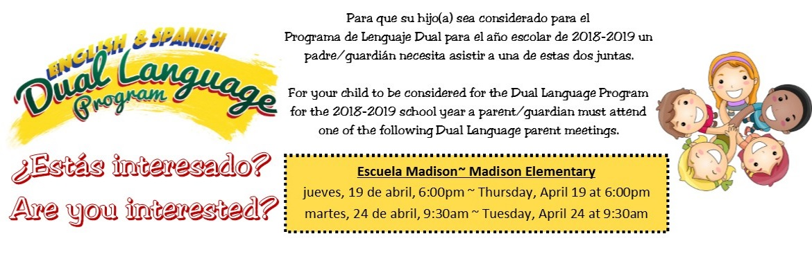 Dual Language Meeting 2018-2019